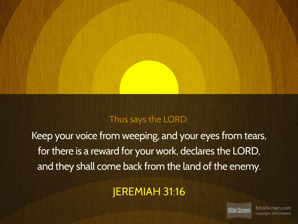 Jeremiah 31.16