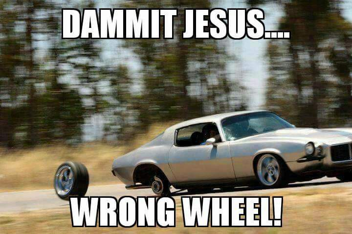 Wrong wheel Jesus