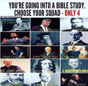 Choose your squad for Bible study