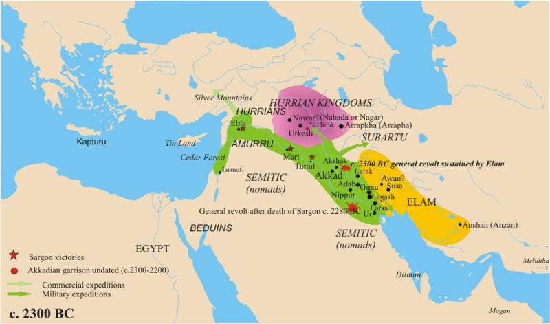 Ancient Near East Circa 2300 BCE