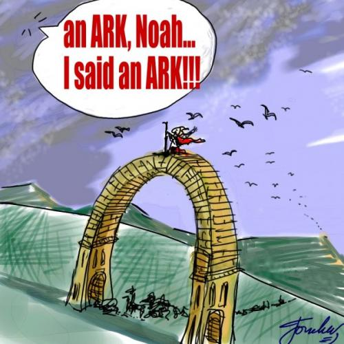 I said Ark not arch Noah meme