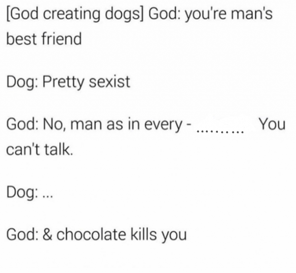 When God created dogs