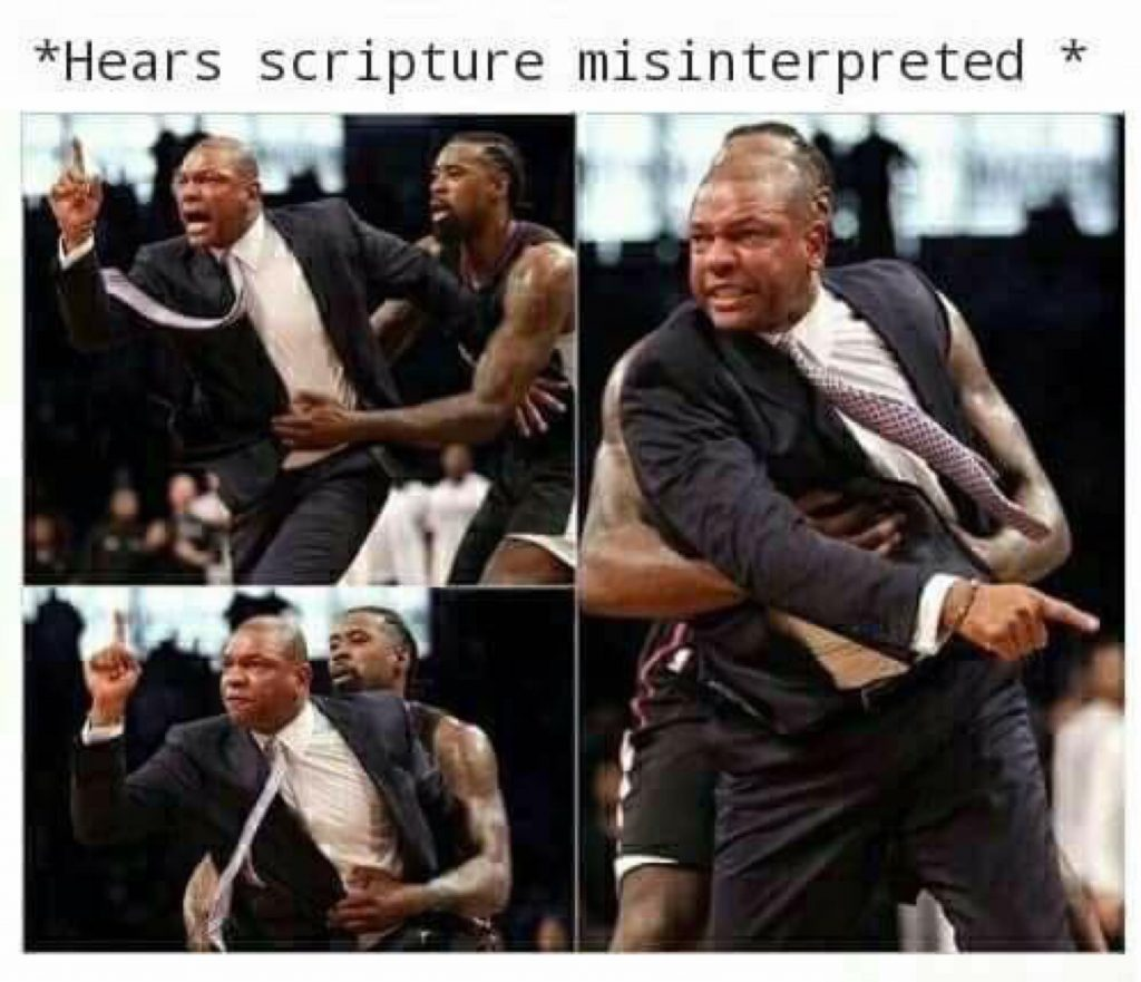 When scripture is misinterpreted meme