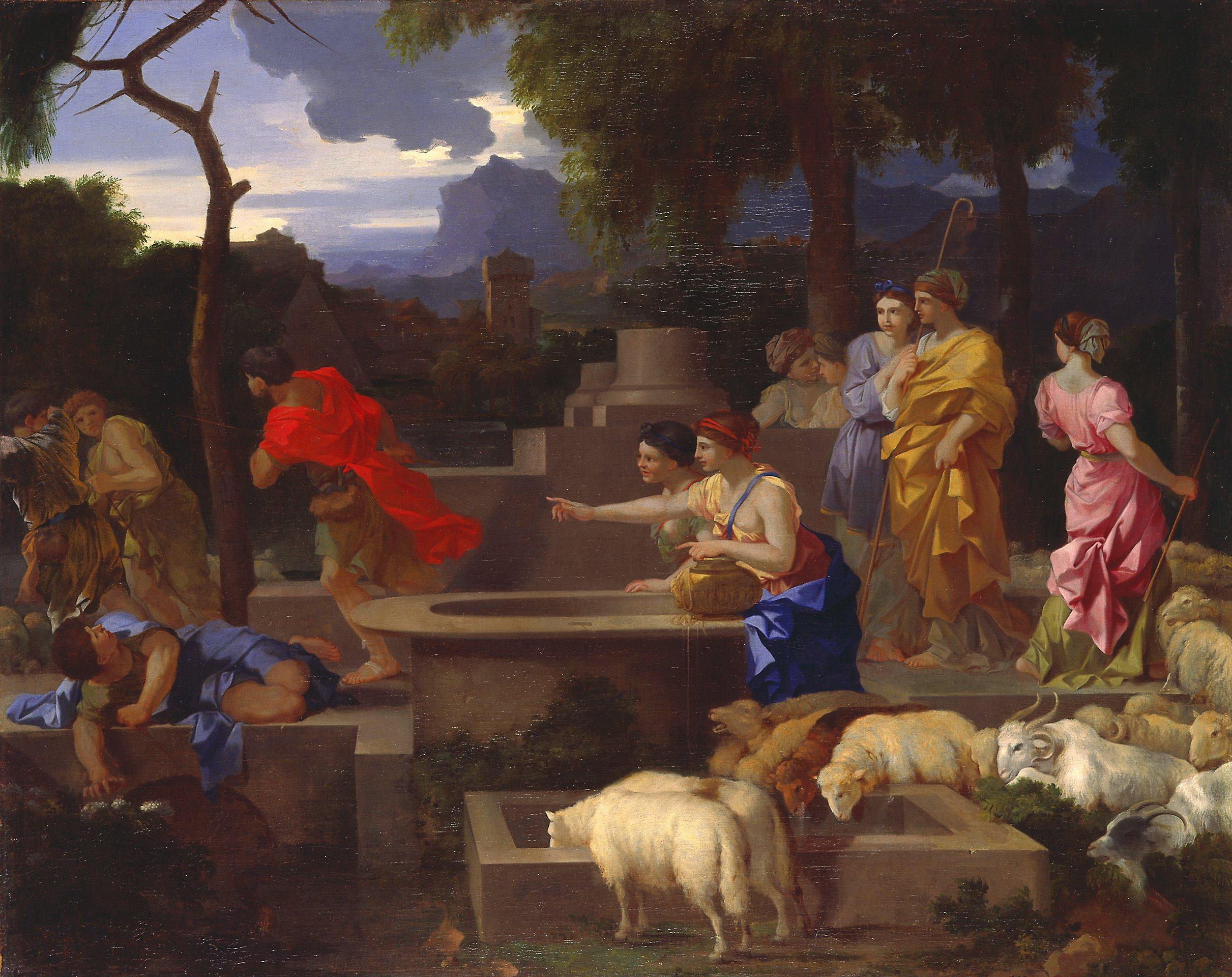 Sbastien Bourdon, Moses Defending the Daughters of Jethro