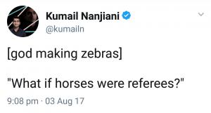 When God made zebras