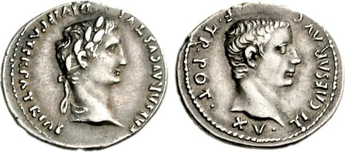 Tiberius Caesar coins minted during co-regency