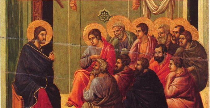 the Last Supper, from the Maesta by Duccio, 1308-1311