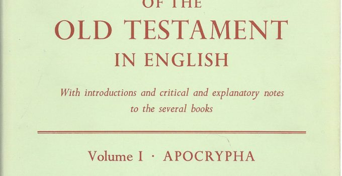 Apocrypha and Pseudepigrapha of the Old Testament, R. H. CHARLES