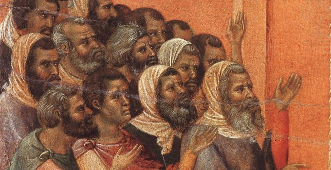 Duccio di Buoninsegna - Christ Accused by the Pharisees