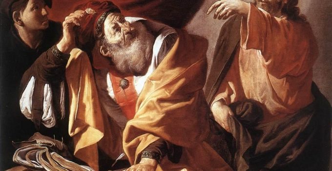 Hendrick ter Brugghen - ի կոչումը Սբ Մատթեոս