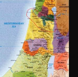 Area between Samaria and Galilee