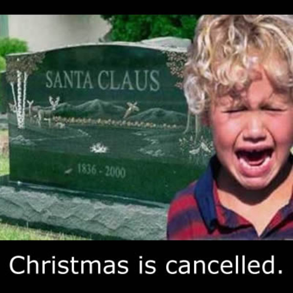 Christmas is cancelled meme