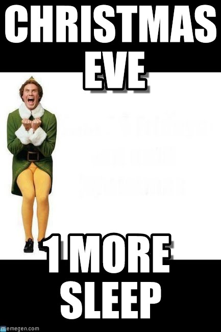 Elf one more sleep meme