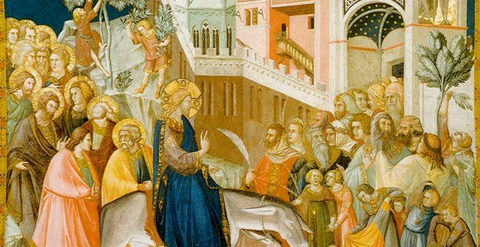 Հիսուսը մտնում է Երուսաղեմ, եւ բազմությունը ողջունում է նրան, Pietro Lorenzetti, 1320