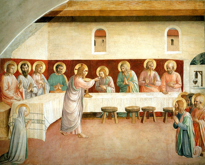 Հիսուսը հաղորդություն տվեց Վերջին Ընթրիքի պատկերակին