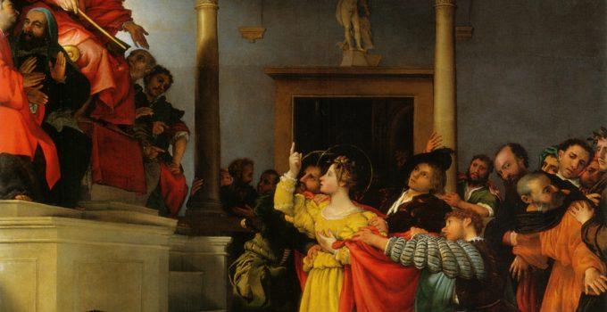 Lorenzo Lotto, Saint Lucy Before The Judge