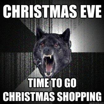 Shopping on Christmas eve