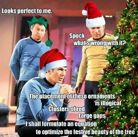 Star trek tree decorations