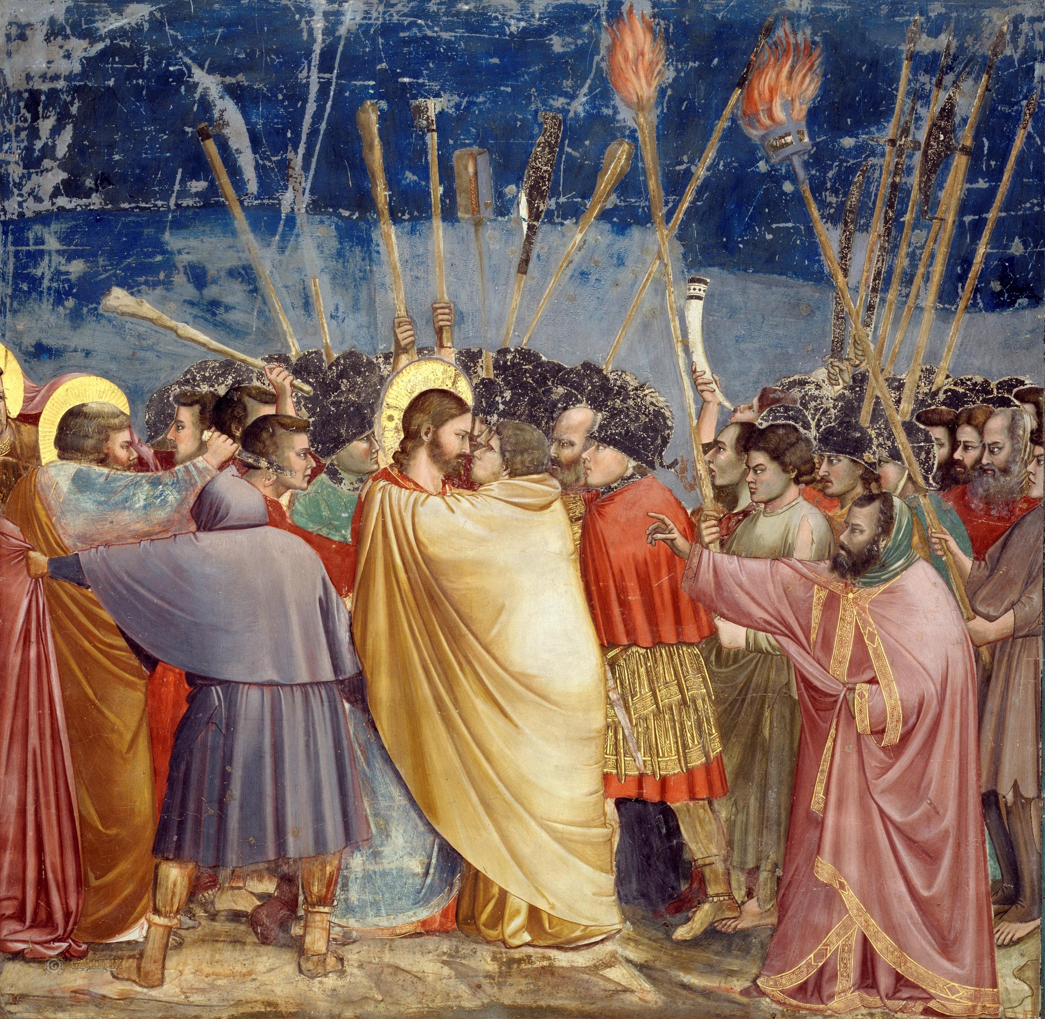 Հուդայի համբույրը, Giotto di Condone- ի կողմից, 1337