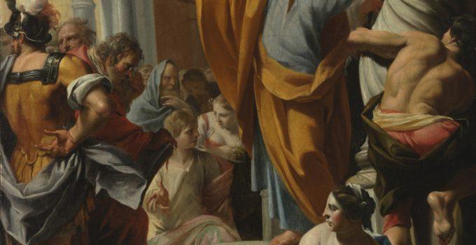 Չարլզ Poërson, Սուրբ Պետրոսի քարոզչություն Երուսաղեմում, 1642, Notre Dame