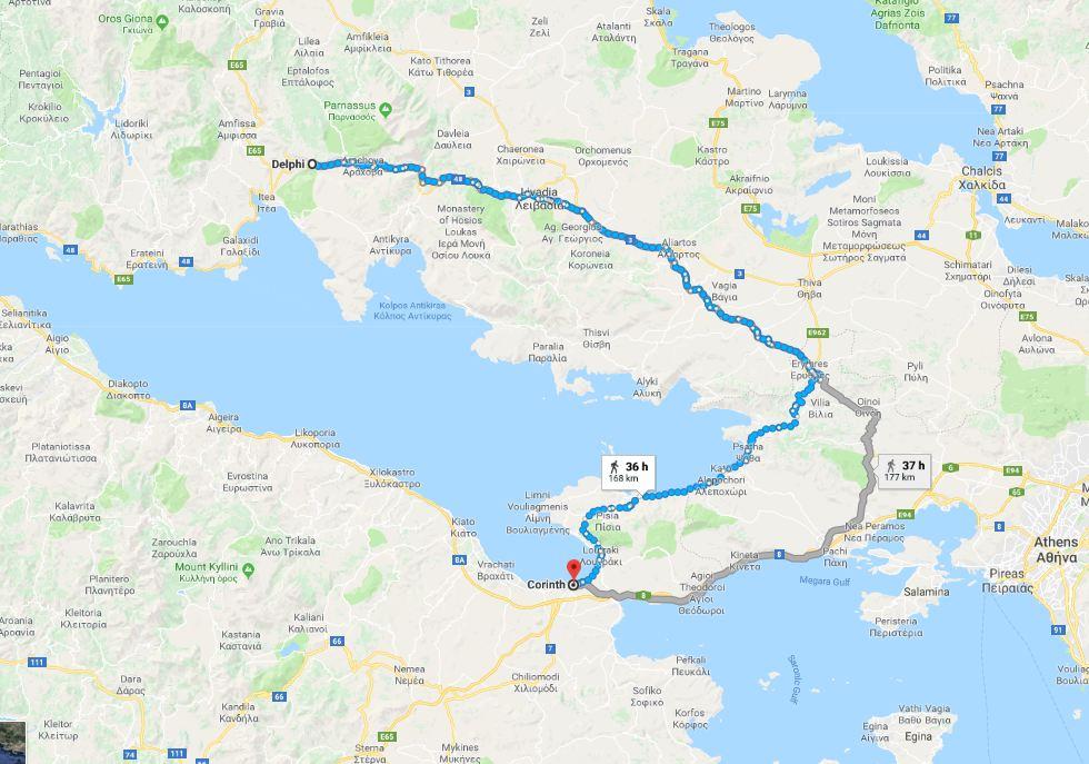 Corinth to Delphi