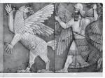 Անտուի նկարագրությունը, որը վարում է Ninurta, պալատական օգնությունը, Նինվեը