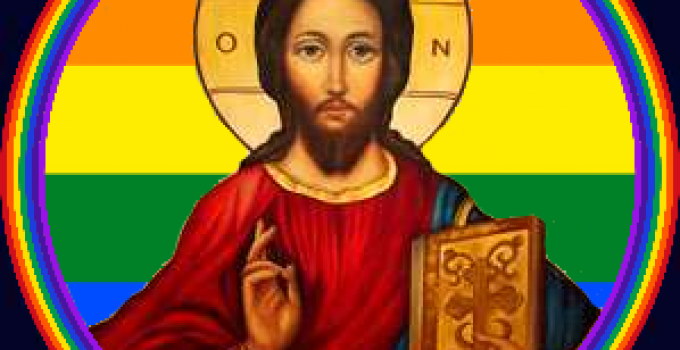 Jesus rainbow icon