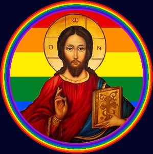Jesus rainbow icon