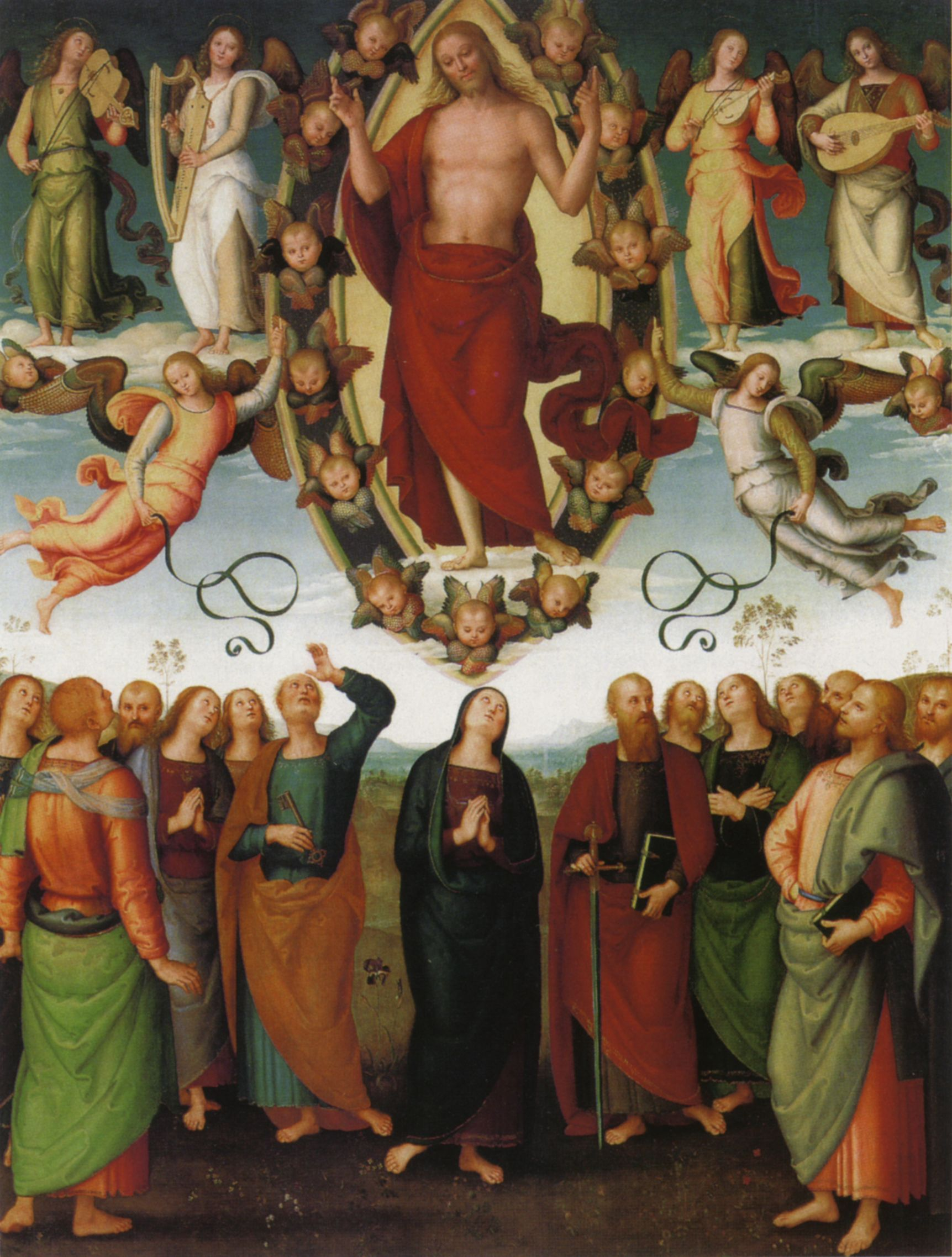 The Ascension of Christ, byPietro Perugino, 1510