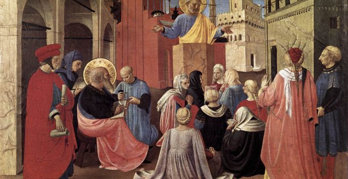 Saint Peter Preaching on Pentecost, by Fra Angelico, 1433