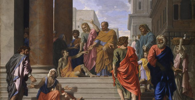 Saint Peter and John Healing the Beggar, by Nicolas Poussin