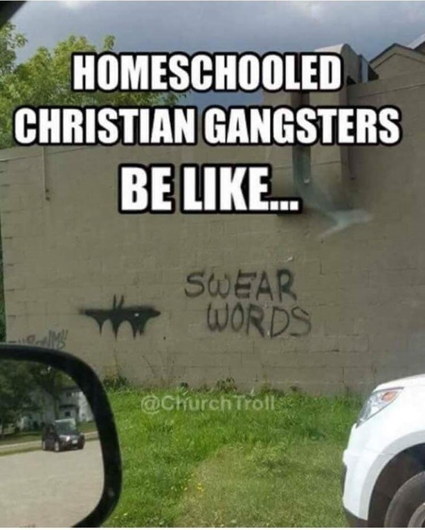 Homeschooled christian grafitti