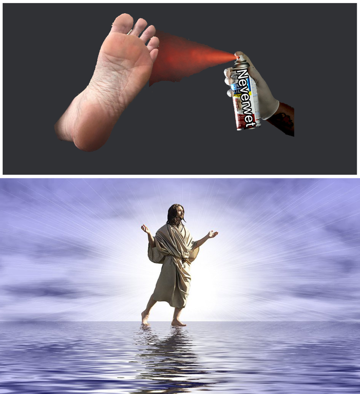 How Jesus walked on water meme