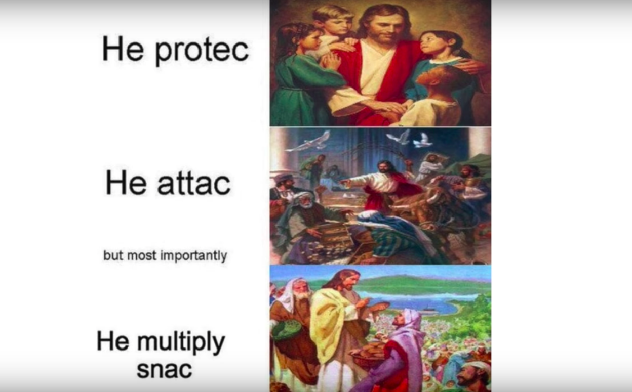 Jesus Protect, attack, and multiple snac