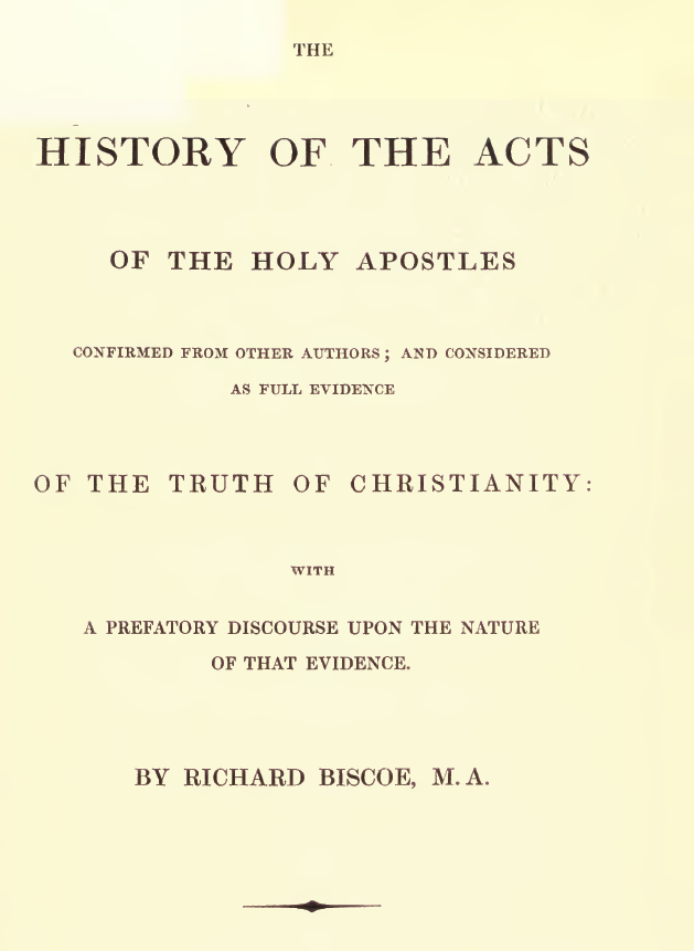 History of the Acts of the Holy Apostles