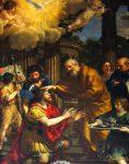 Pietro da Cortona, Ananias Վերականգնում տեսարանը Saint Paul, 1631