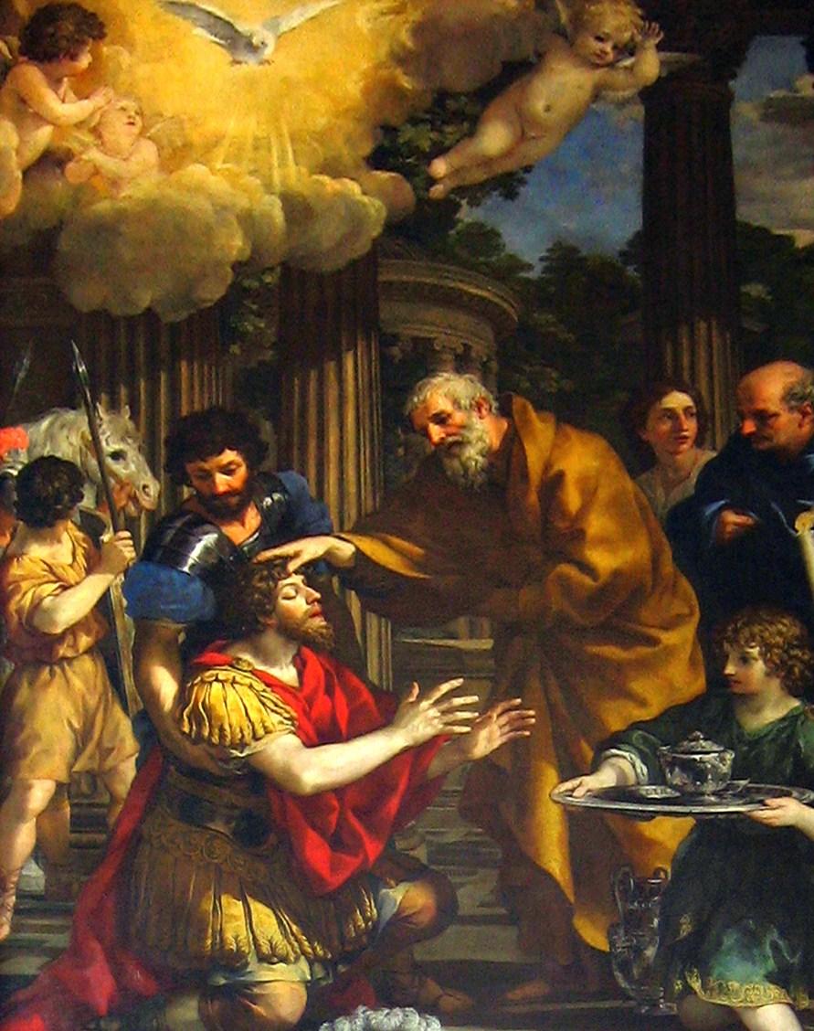 Pietro da Cortona, Ananias Restoring the Sight of Saint Paul, 1631