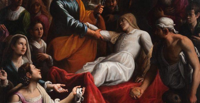 Fabrizio Santafede - Սուրբ Պետրոսի բարձրացնում Tabitha