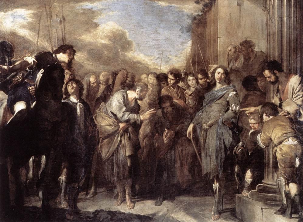 Bernardo Cavallino - St Peter and Cornelius the Centurion