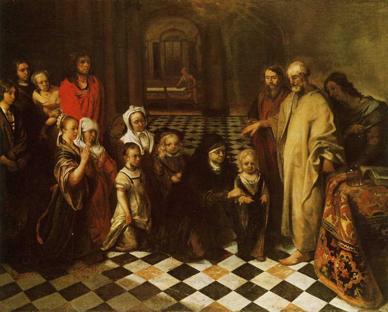 Peter in the House of Cornelius, by Barend Fabritius