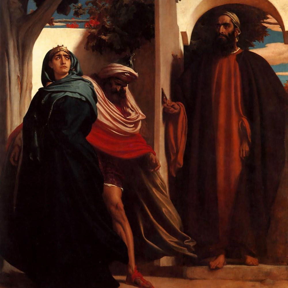 Frederic Leighton - Jezabel andAhab, c.1863