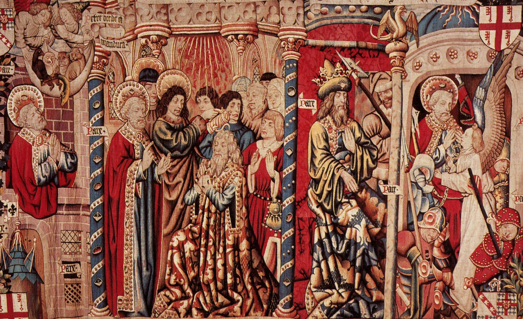 Tapestry Depicting Saint Peter with Cornelius
