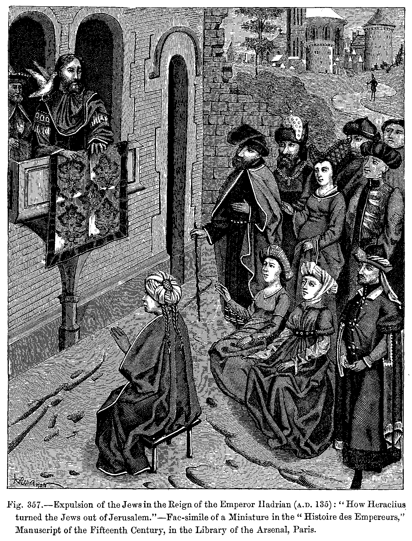 Expulsion of the Jews in the Reign of the Emperor Hadrian CE 135