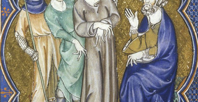 Arundel, Christ before Pilate and Herod, c. 1310