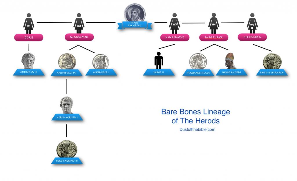 Bare Bones Family Tree of the Herods