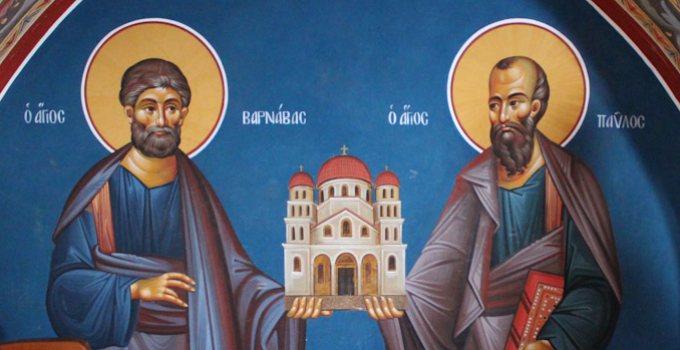 Paul and Barnabas Holding the Church at Cyprus