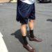 dress socks and shorts